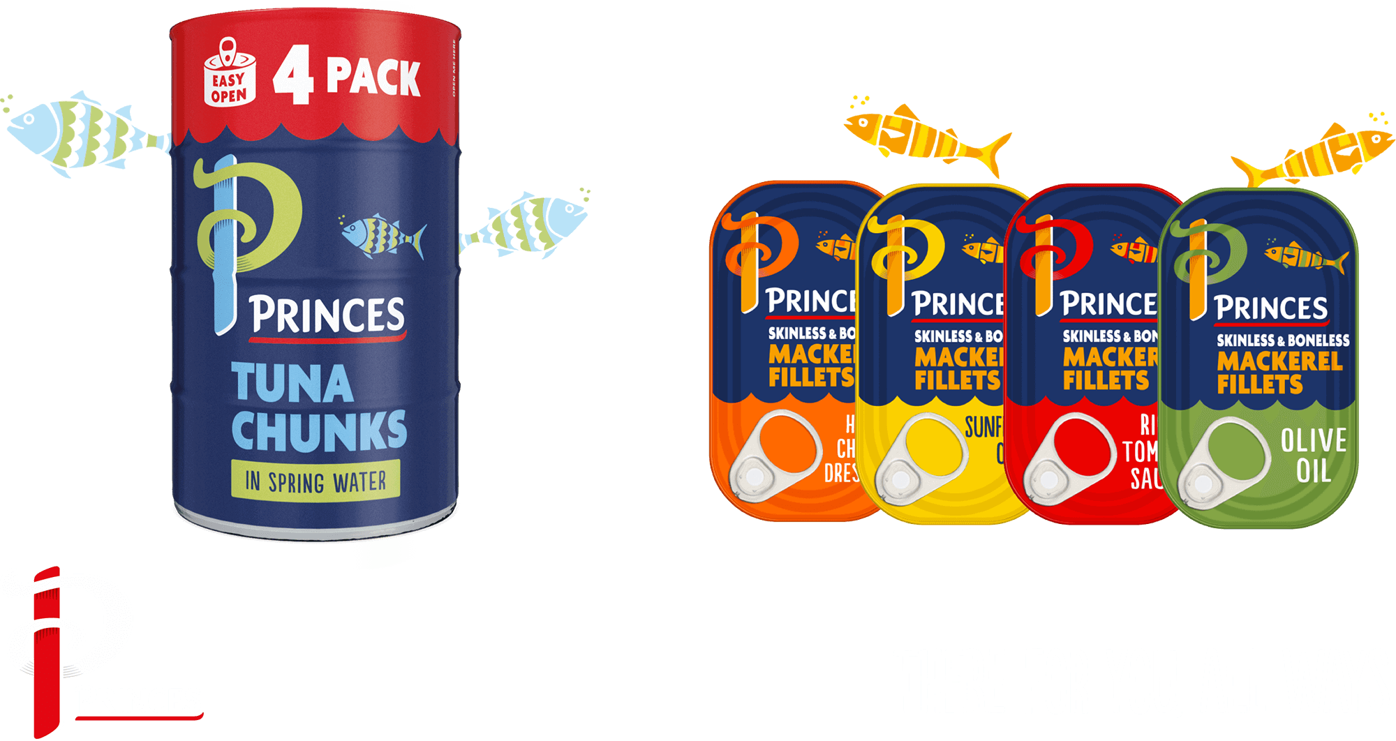 Get £1 off the Princes Mackerel or Tuna range